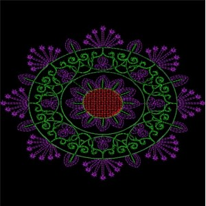 Sequin Embroidery designs 22