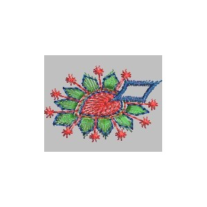 New embroidery Folwer design 1