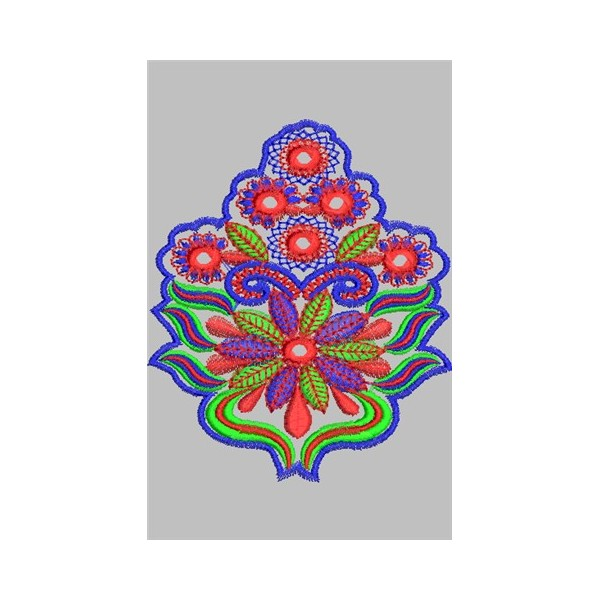 New embroidery flower design