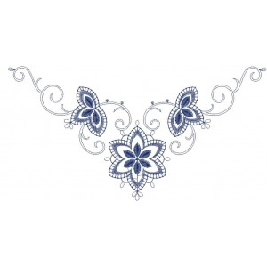 Nice embroidery neckline flower