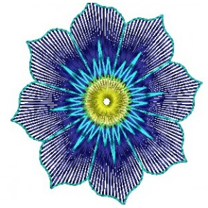 Blue Flower Embroidery Designs