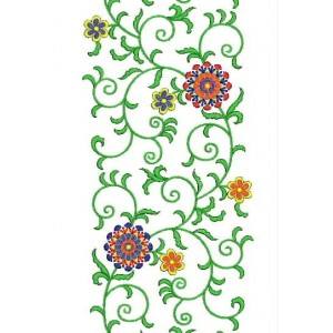 Flower All Over Jaal Embroidery