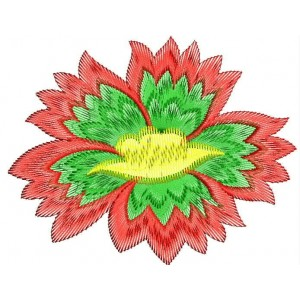 New Red Flower Embroidery designs