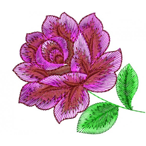 Beautiful Pink Rose Embroidery Design