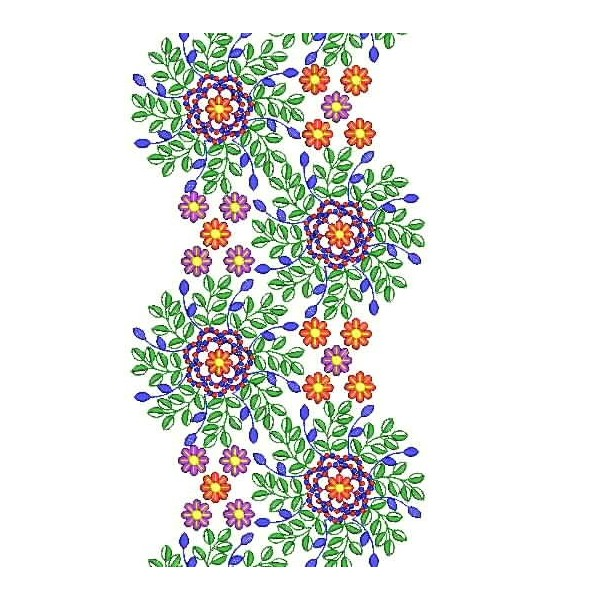 New large flower embroidery designs