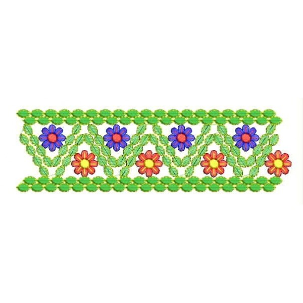 Flora Embroidery Border Design