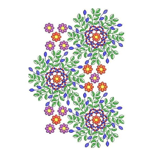 Small flower machine embroidery design