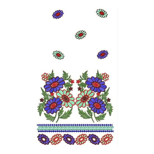 Small new flowers embroidery design