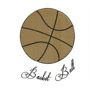 Basket ball embroidery designs
