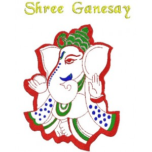 Shri Ganesh Embroidery Design 2
