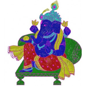Shri Ganesh Embroidery Design 4