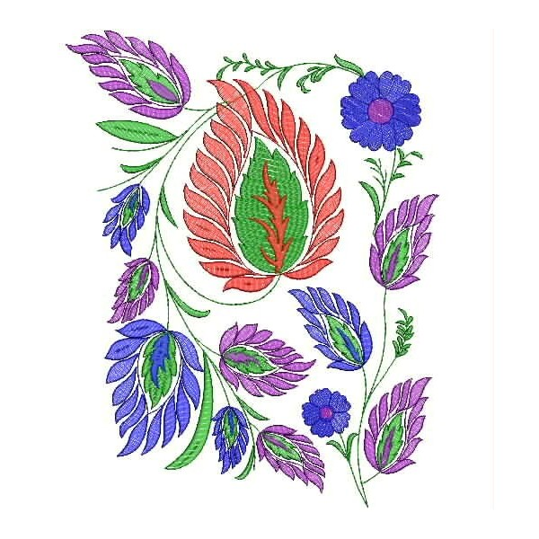 Multi leaf embroidery designs