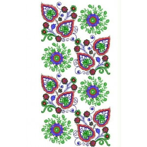 Unique Flower Neckline Embroidery Designs 1