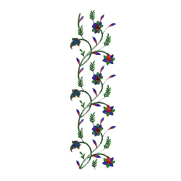 Flora machine embroidery designs