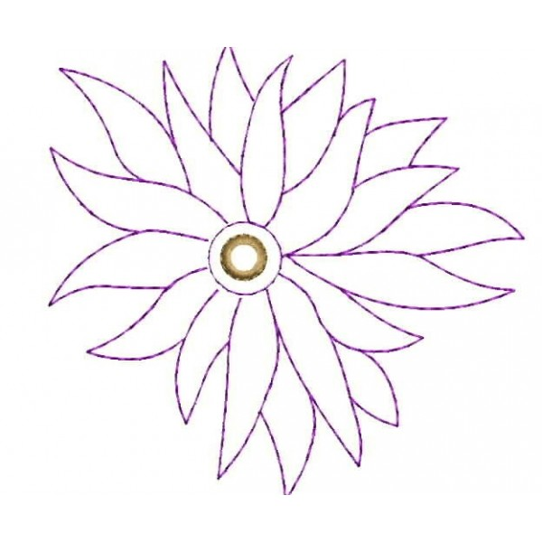 Outline Flower Embroidery Designs