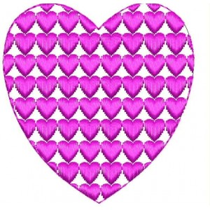 Heart Motif Filled Embroiery Designs