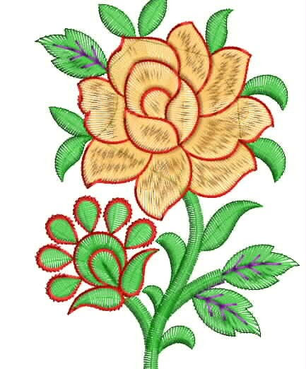 Pillow Flower Embroidery Designs