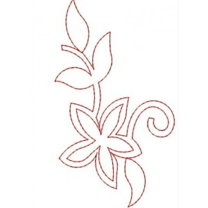 Flora Red Work Outline Free Smaple Designs