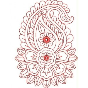 Red Work Embroidery Designs 6