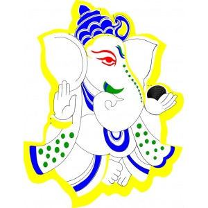 Lord Ganesh Embroidery Free Clipart 3