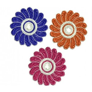 3 decorative flowers embrodiery designs