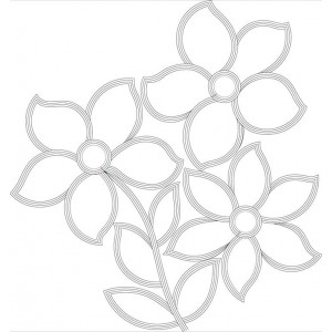 Clipart outline Flora designs Embroideryshristi 13