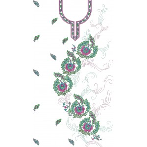 Full dress sequin embroidery designs 1050
