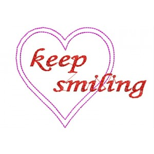 Keep Smiling Embroidery Designs freebies