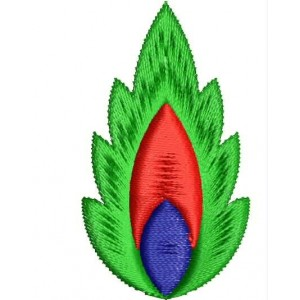 Flame flower embroidery designs 7