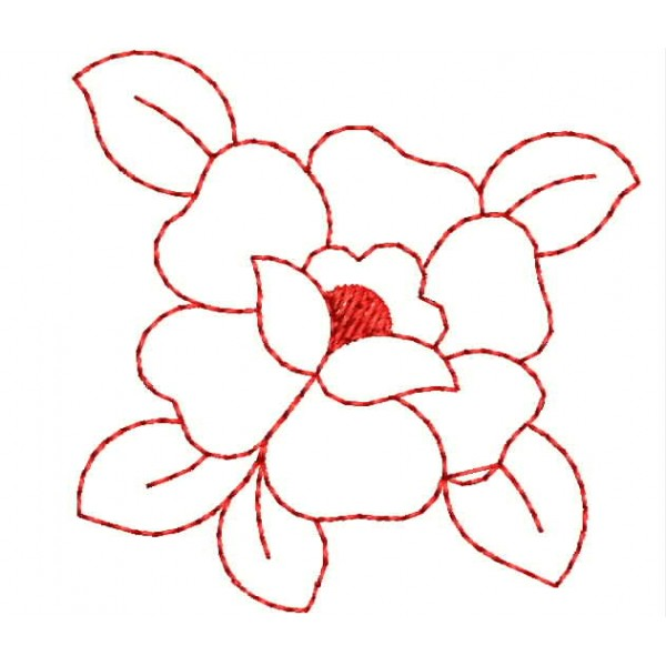 Rose redwork embroidery designs embroideryshristi