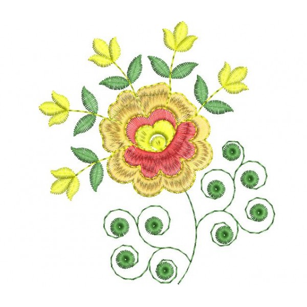 New embroidery folwer design