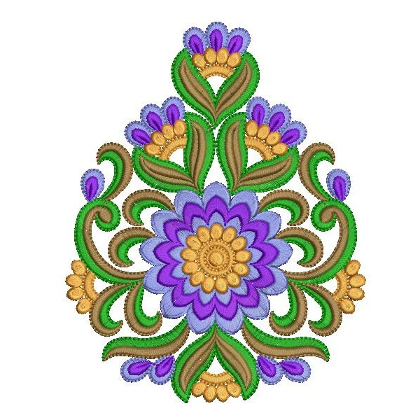 Iindian embroidery butta floral designs