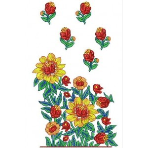 Rubber print sunflower designs