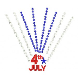 4th july Embroidery Designs