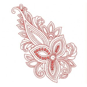 Red Outline Embroidery Designs  EmbroideryShristi