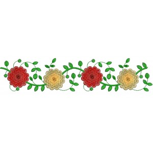Rose Embroidery border designs