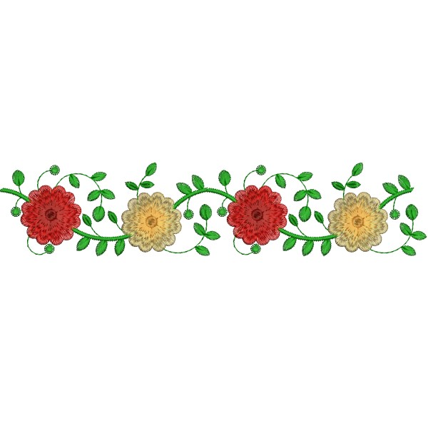Rose embroidery border designs embroideryshristi