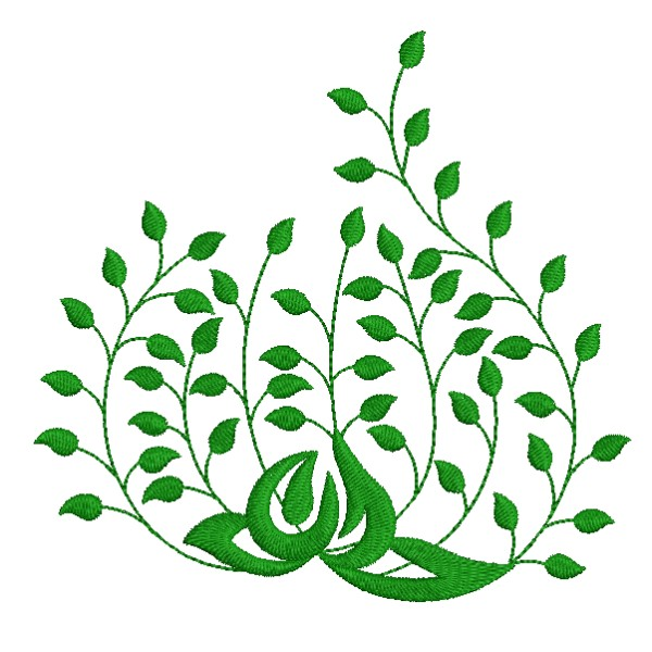 Beautiful leaf embroidery decor designs