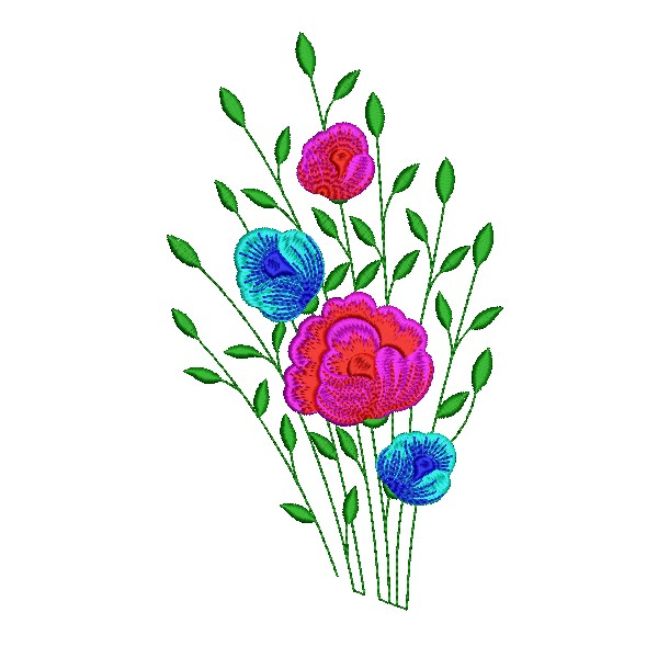 Kitchen towel flowers designs embroideryshristi for Small flower designs