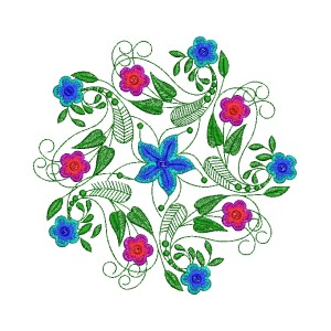 Elegant Outline Offset Leaf Floral Designs