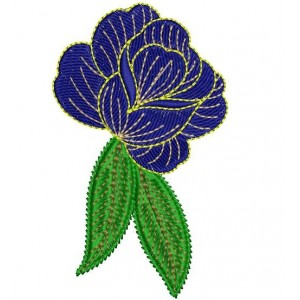 Blue Rose Embroidery Designs