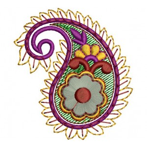Paisely Embroidery Design - EmbroideryShristi