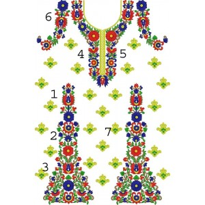 Large full dress Split Design
