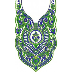 Traditional Neckline Embroidery Designs 2