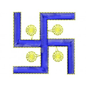 Hindu Sign Swastika Embroidery Designs
