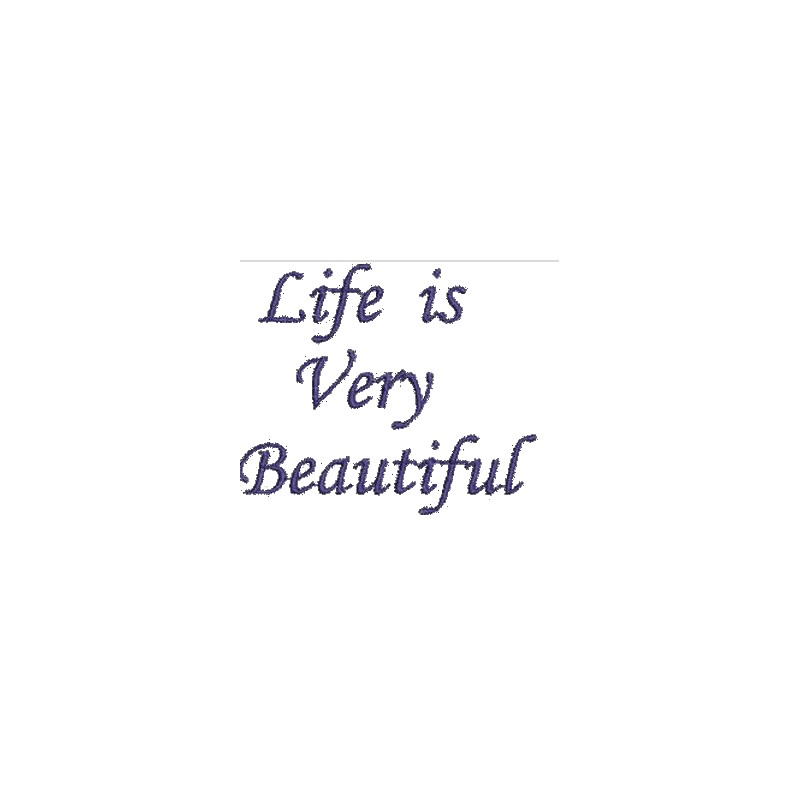 Quote Designs Free Embroidery Designs Embroidery Quote Life Is