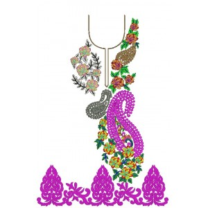 U Shaped Indian Embroidery Dress Design