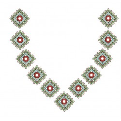 Floral Small Splitted Embroidery Design