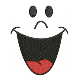 Funny Face Embroidery Design