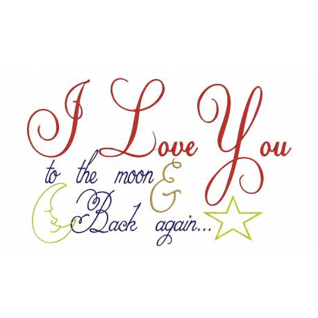Love Quote Embroidery Design